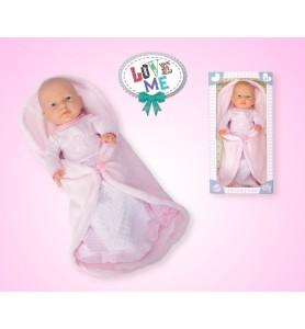 RN New born baby niña manta...