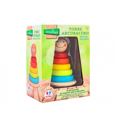 WOODEN RING TOWER W/5...