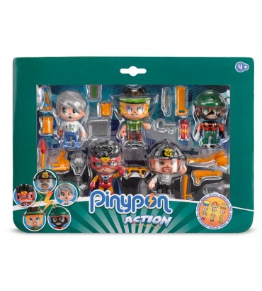 Pinypon Action. Pack 5 Figuras