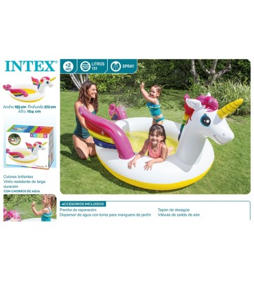 PISCINA SPRAY UNICORNIO -...