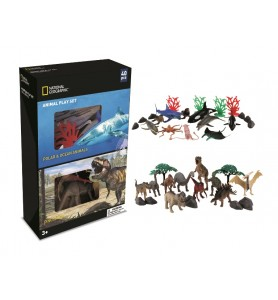 SET 40 PZS ANIMALES OCEANO...