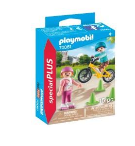 Niños con Bici y Patines