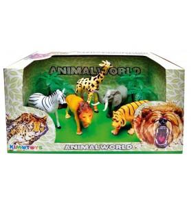 CONJUNTO ANIMALES DE SELVA...