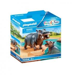 Hipopótamo con Bebé