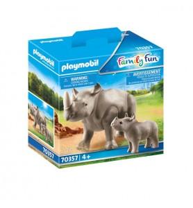 Rinoceronte con Bebé