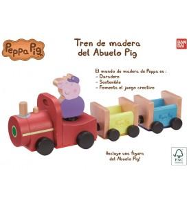 TREN DE MADERA ABUELO PIG