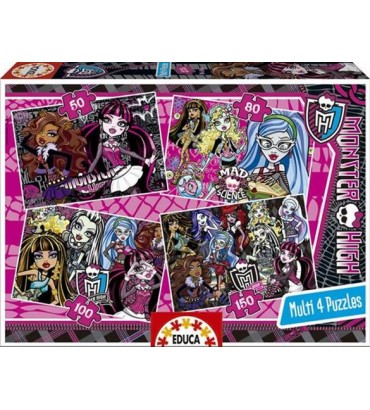 *MULTI 4 PUZZLES MONSTER HIGH