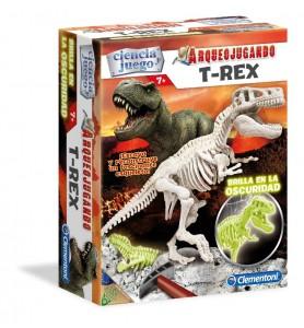 Arqueojugando T  Rex fluor