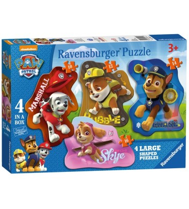 PAW PATROL 4 SHAPED PUZZLES