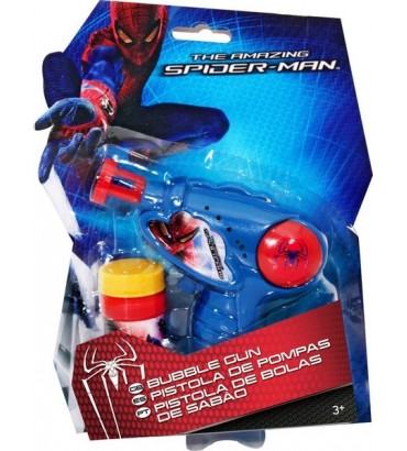 PISTOLA DE POMPAS SPIDERMAN