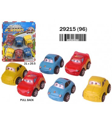 BLISTER 6 COCHES PULL BACK...